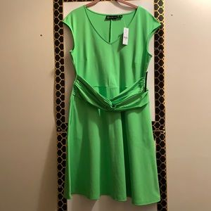 NEW YORK & CO DRESS, FIT/ FLARE, SIZE LARGE